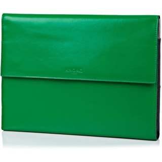 Knomo Bags Knomad Soho Ledertasche für iPad Air 2 Organiser grün