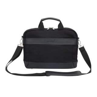 Networx Raven Briefcase Aktentasche MacBook Canvas Leder schwarz
