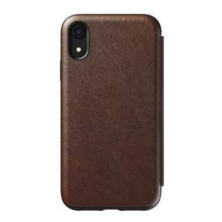 Nomad Tri Folio Leather Rugged M Schutzhülle für iPhone XR Schutzhülle braun