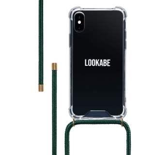 LOOKABE Necklace Case Tasche für iPhone XS Max Handykette grün