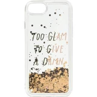 LAUT Pop Glitter Glam für iPhone 8 Handyhülle Schutzhülle gold transparent