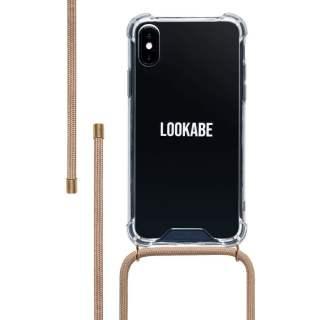 LOOKABE Necklace Case Handyhülle mit Handykette für iPhone XS/X nude