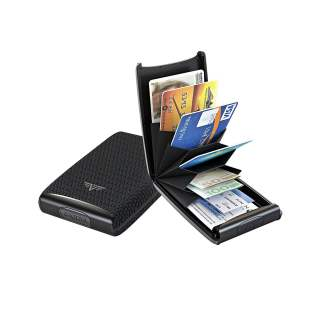 Tru Virtu Credit Card Etui FAN Kartenetui RFID Diagonal Carbon Black schwarz