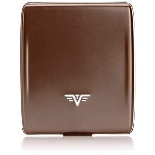 Tru Virtu Wallet Money & Cards Brieftasche Portemonnaie RFID Coffee to Go braun