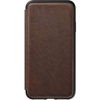 Nomad Tri-Fold Folio L Schutzhülle für iPhone XS Max Handyhülle braun