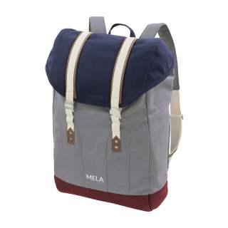MELA Rucksack MELA V Backpack blau/grau/burgunderrot