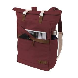 MELA Rucksack ansvar I 14 + 5 Liter Backpack Freizeitrucksack burgunderrot