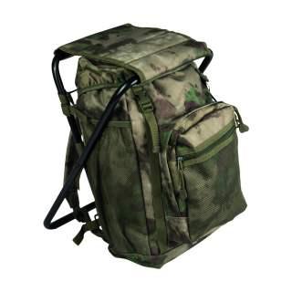 Mil-Tec Rucksack Ansitzrucksack mit Hocker Outdoor Rucksack mil-tacs FG camouflage