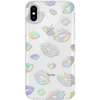 Incipio Schutzhülle für iPhone X und 10 transparent holographische Küsse