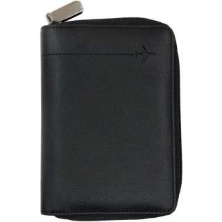 Networx Reisepassetui RFID Ledertasche für Reisepass schwarz